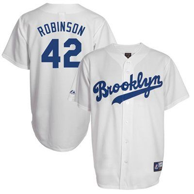 uk availability 3c416 ab70b Jackie Robinson Brooklyn Dodgers Cooperstown Jersey #42 ...
