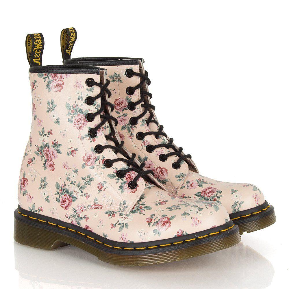 Dr Martens Flower Print Boots Boots Doc Martens Boots Dr Martens Boots