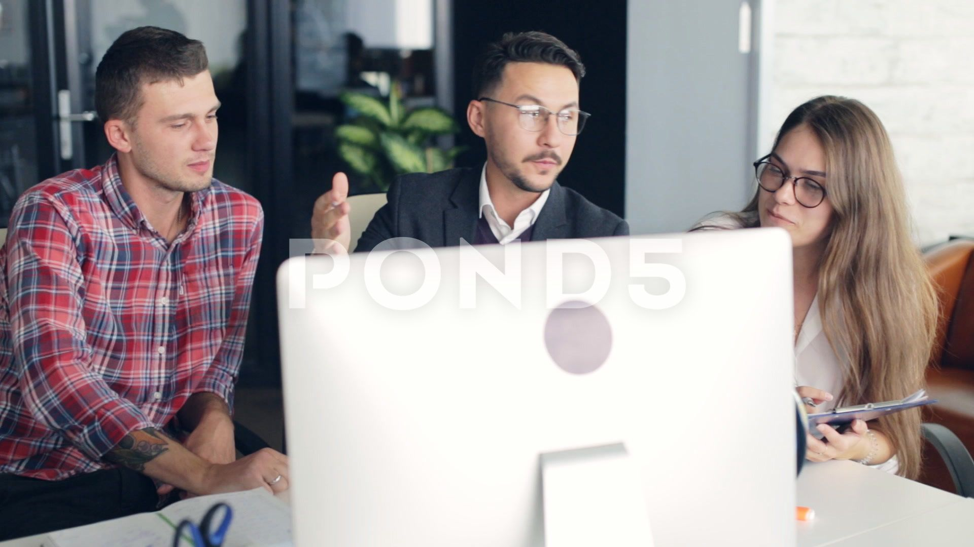 Business Team In Board Room Discussion Meeting Corporate Concept