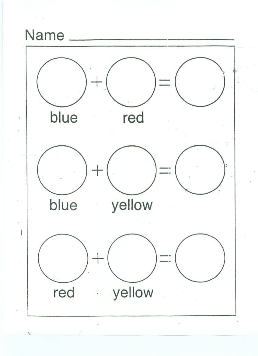 color mixing printable worksheet Google Search