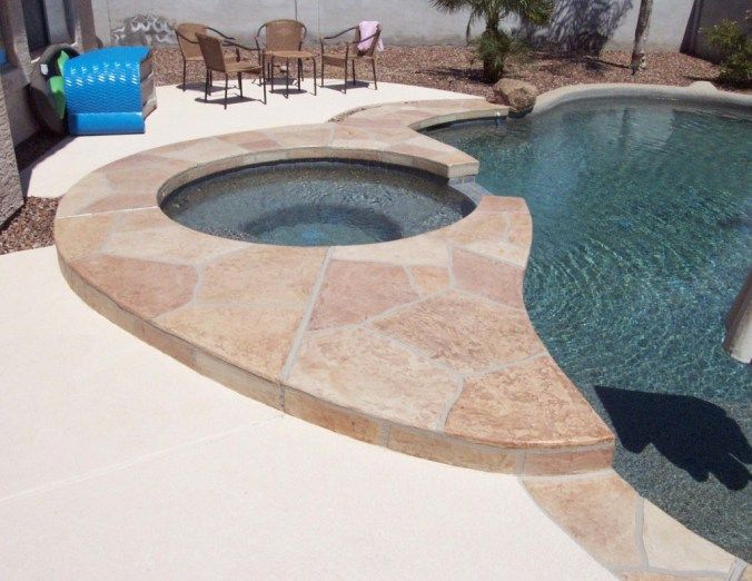 How Long Will a Lace Texture Pool Deck Last? | Pool decks ...