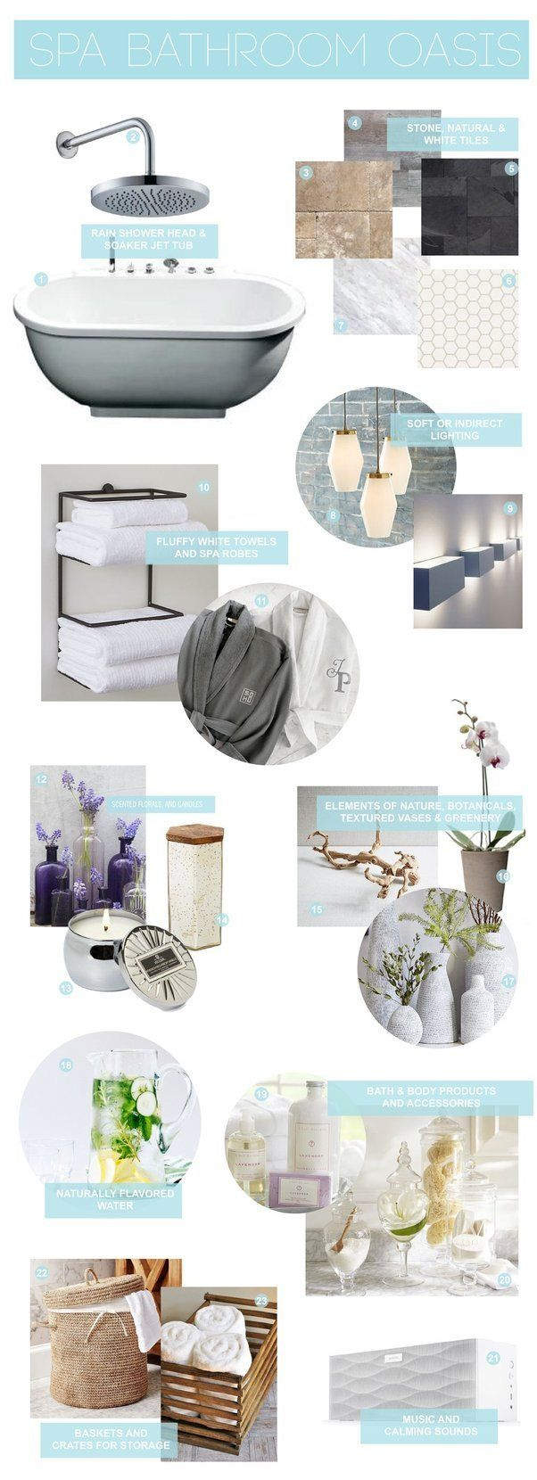 Home Spa Design Ideas: Create Your Own Spa Bathroom Oasis