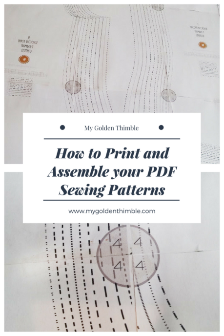 How to Print PDF Sewing Patterns and Assemble them | Easy Sewing ...