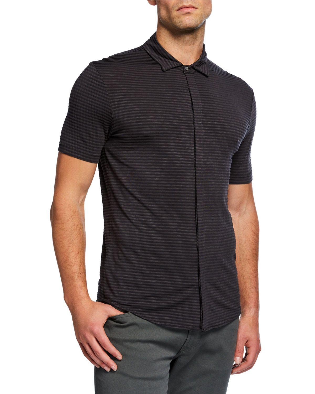 a0781143 Bally Designer Men's Animals Contrast-Trim Polo Shirt, Red | Clothing > Tops  > Polos in 2019 | Polo, Polo Shirt, Mens tops