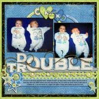Cute baby page for my friends w/ twins