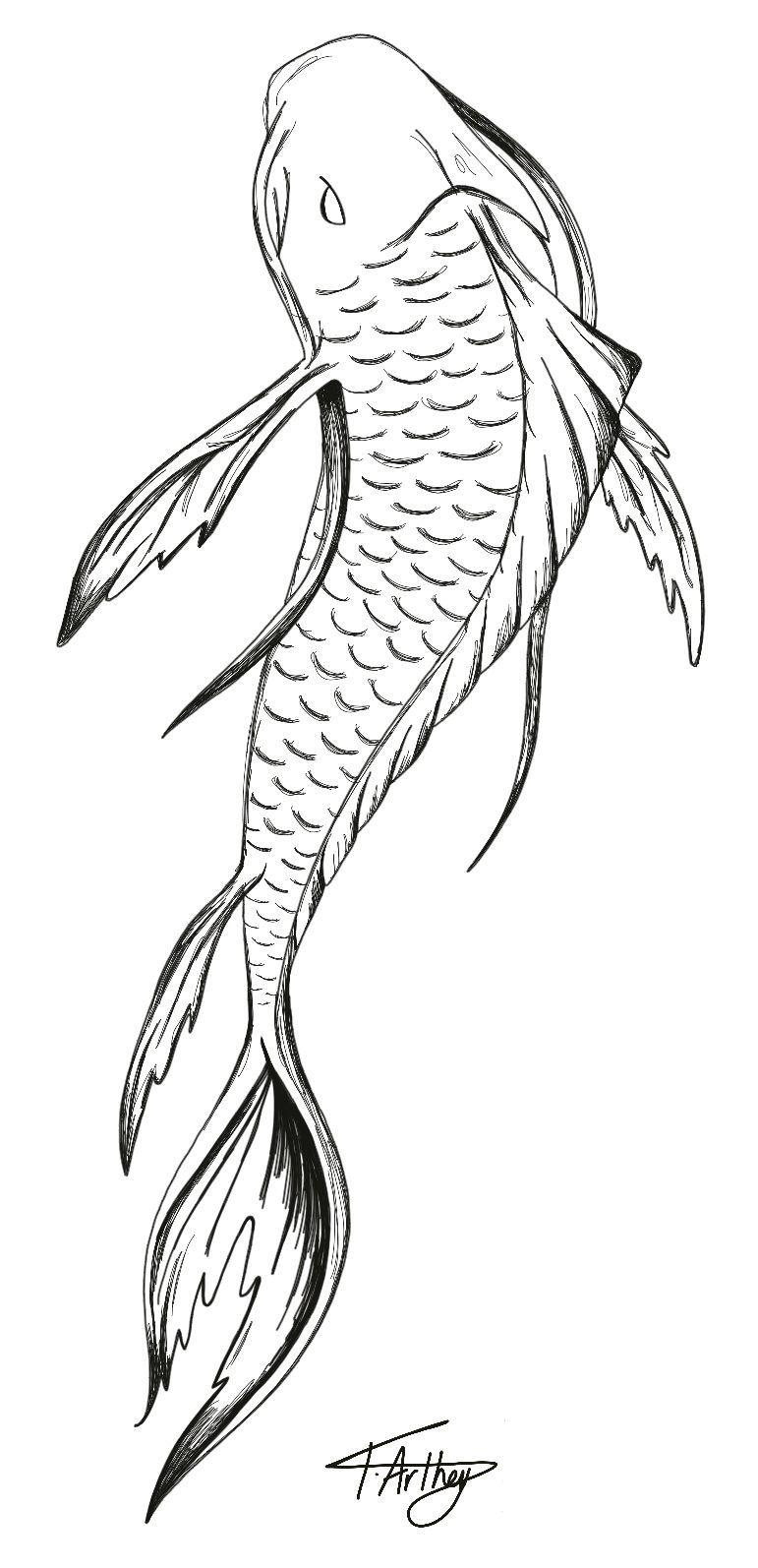 Fish Tattoo Design In 2020 Koi Fish Drawing Fish Drawings Japanese Fish Tattoo