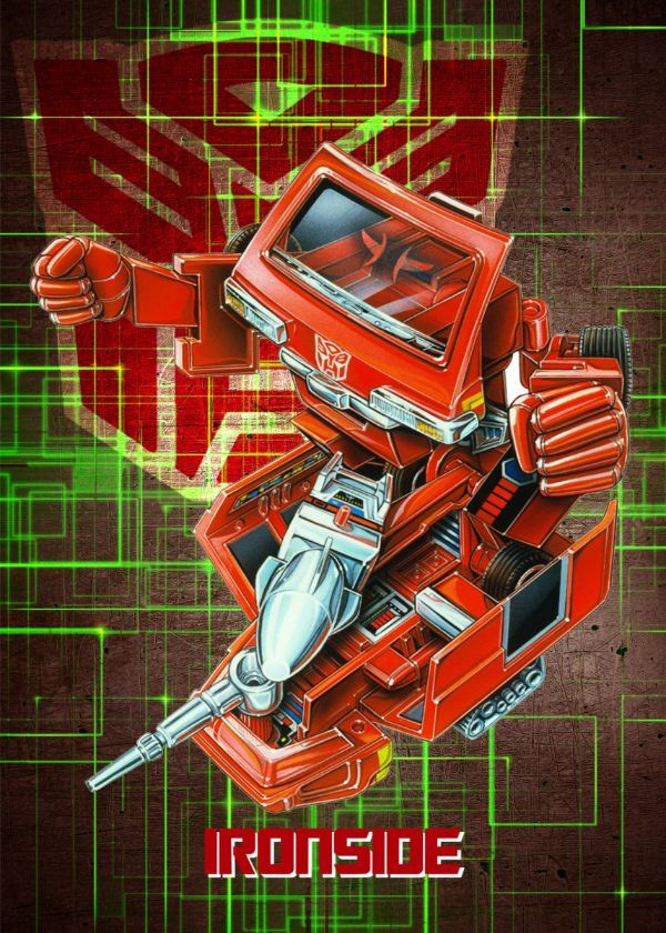 "Transformers G1 Autobots Ironside #Displate artwork by artist ""Wiebes"". Part of a set featuring… 