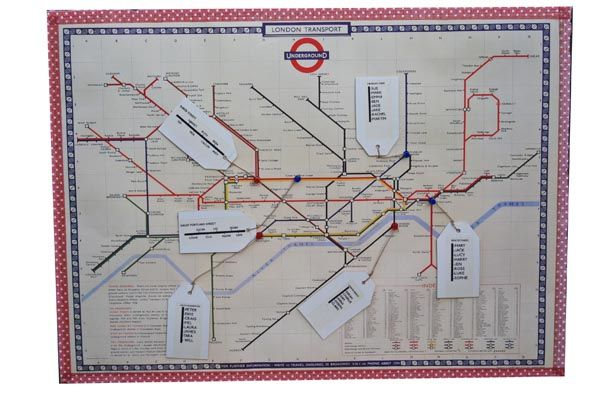 How To Make DIY Map Table Plans {London Underground Maps / World Maps}
