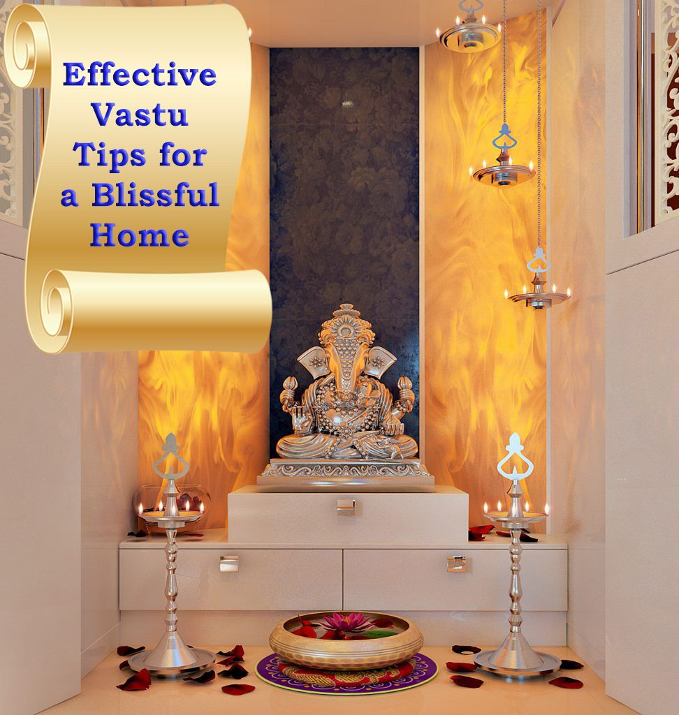 Vastu Tips For Blissful Home Click Https Www Magnonindia Com To View More Homeinterior Magnonindia Interiordesign Pooja Rooms Interior Interior Design