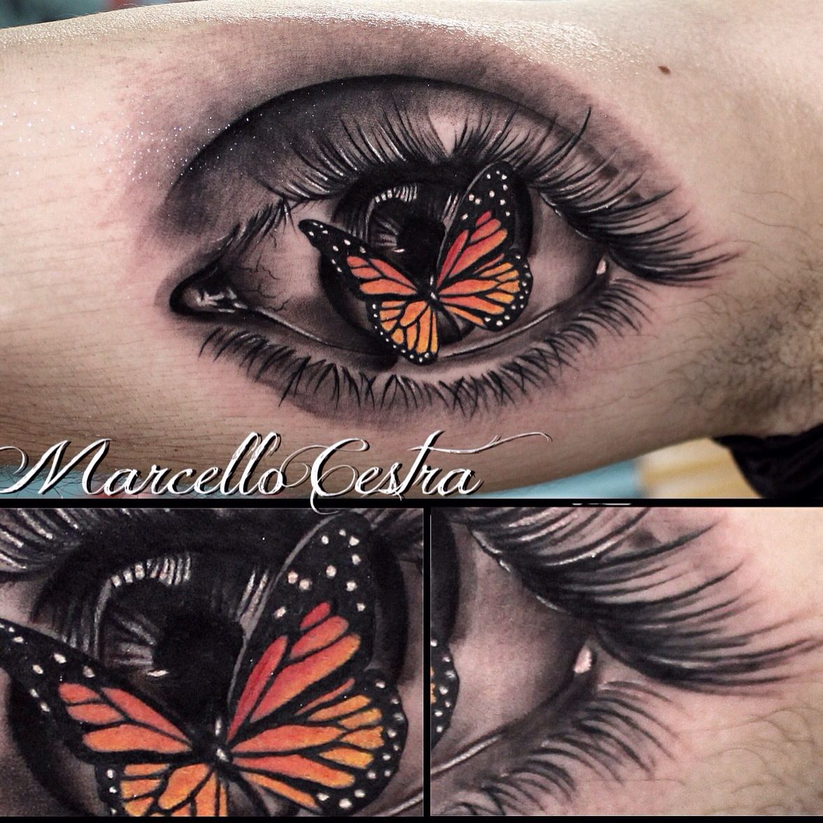 Real Eye with butterflyUsed Cheyenne Tattoo machines and