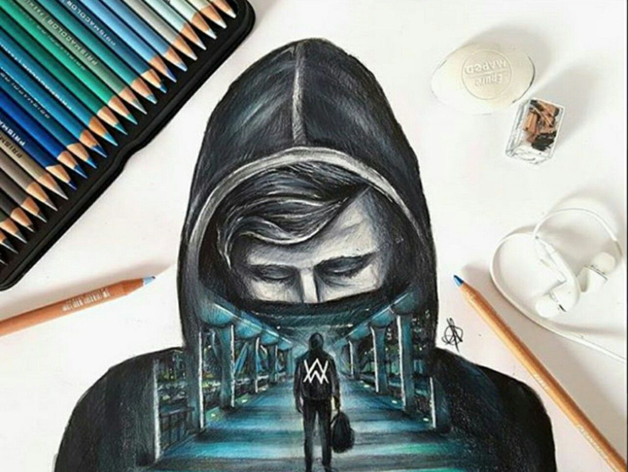 Pin By Vinayak Indulkar On Drawing Alan Walker Allen Walker Walker Art