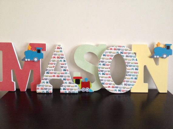 Train Wall Decor train wooden letters, train boys room, train wall decor, train