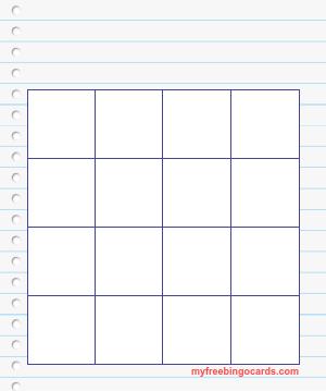 Myfreebingocards Com Free Printable And Virtual Bingo Card Templates Bingo Card Template Bingo Cards Printable Templates Bingo Cards