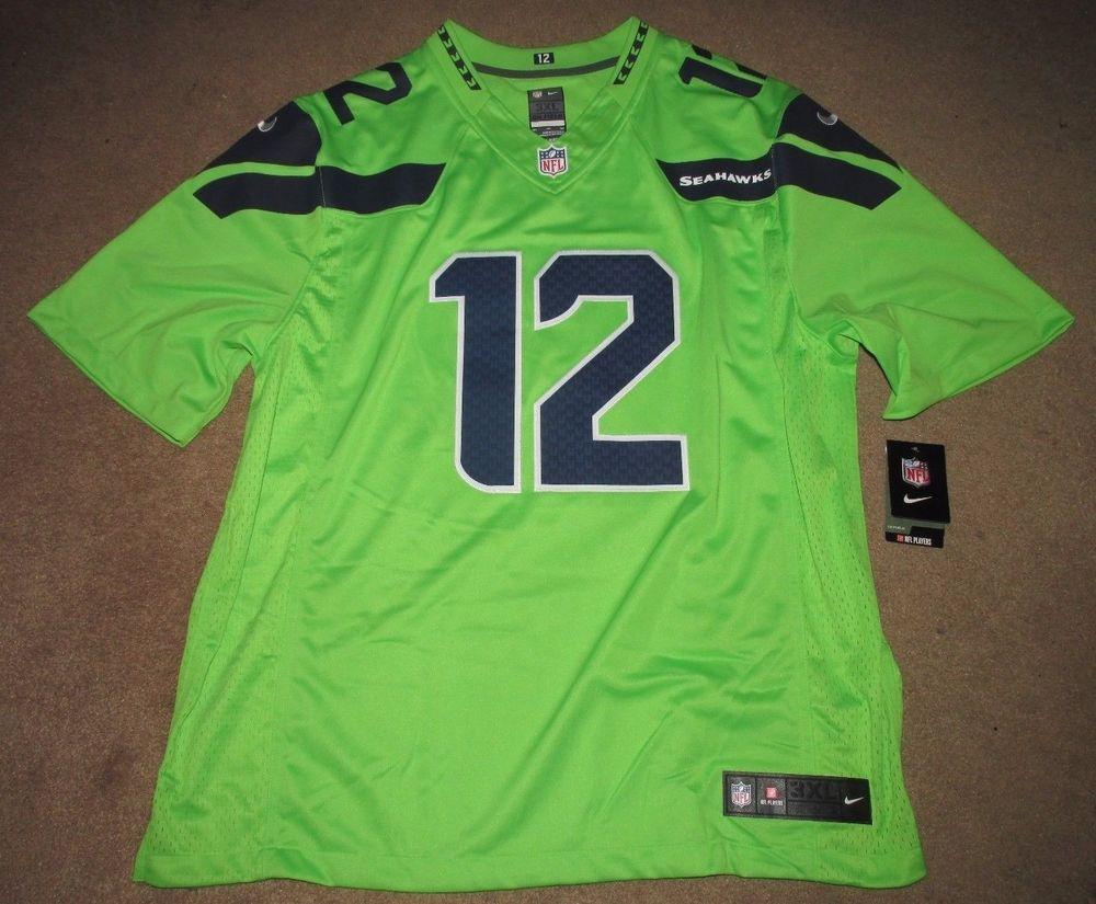 Nike Seattle Seahawks Fan 12 Limited Football Jersey Mens 3xl Green Color Rush Nike Seattleseahawks Seattle Seahawks Logo Seahawks Outfits Seahawks Fans