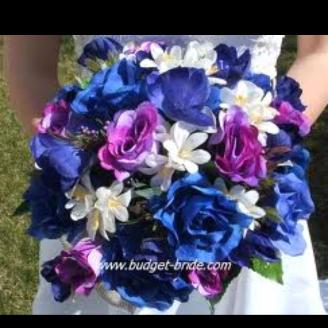 Love Royal Blue And Lavender Purple Wedding Bouquets Wedding