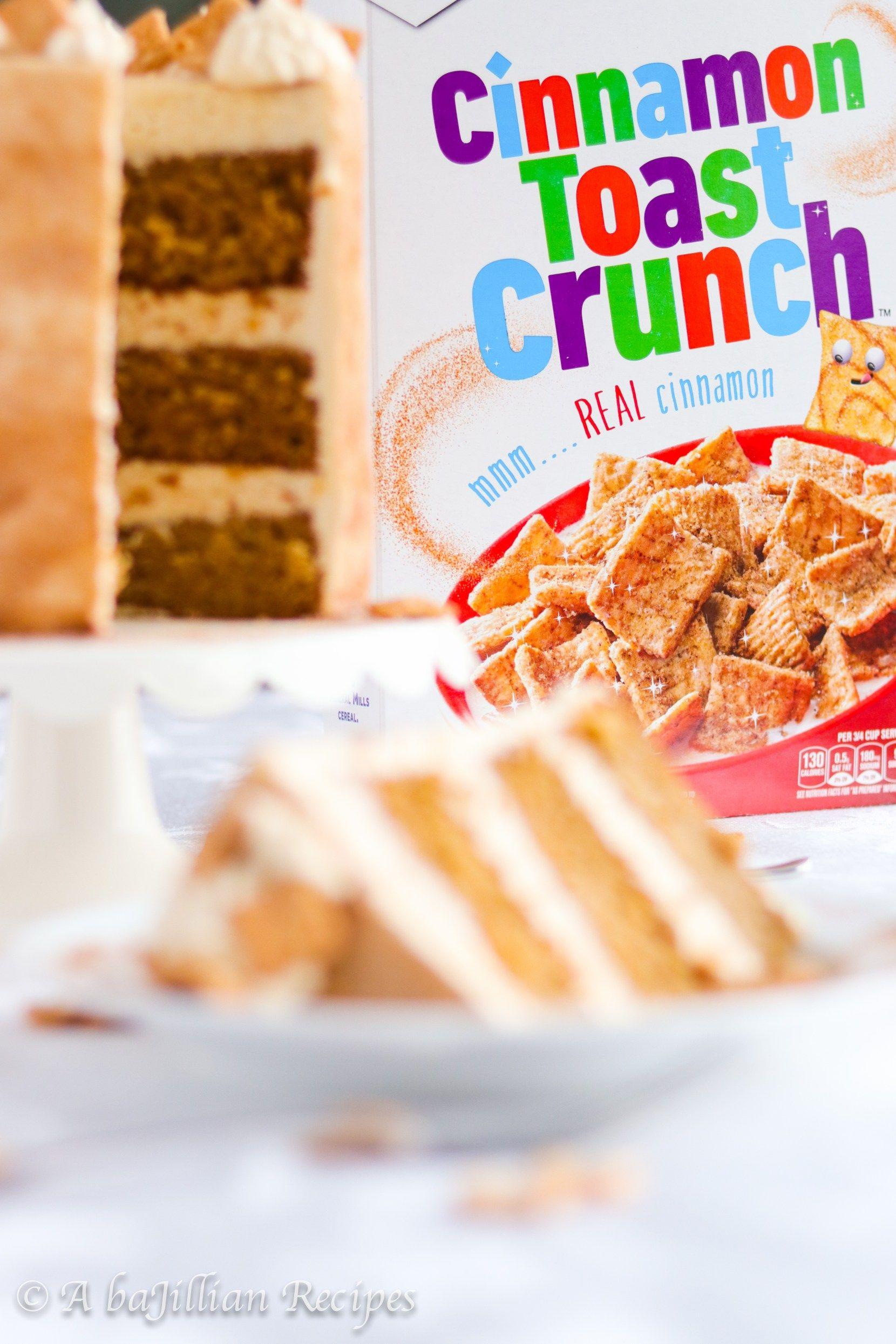 Cinnamon toast crunch cake in 2020 cinnamon toast crunch