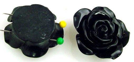 1 resin rose 2 hole slider bead 10349