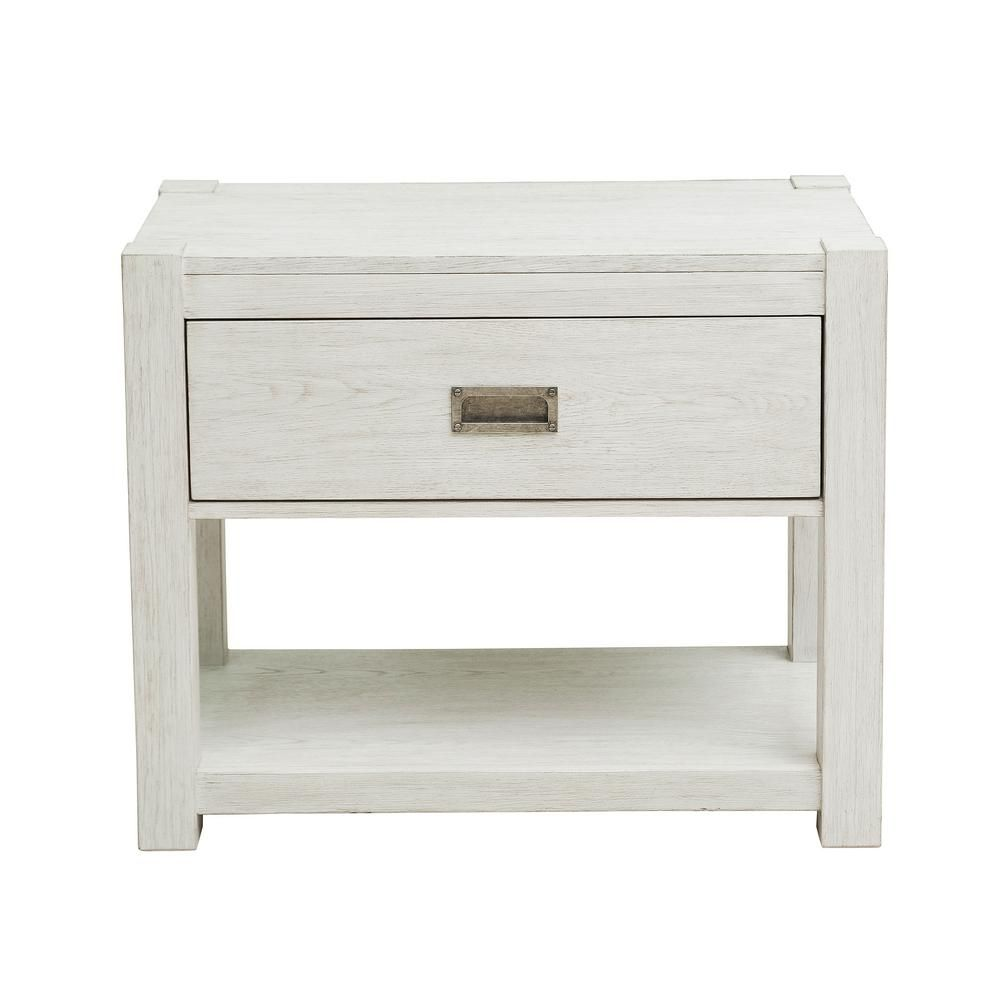 Best Homefare Modern Farmhouse White Nightstand Products In 400 x 300