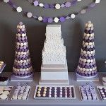 #Lilac, #Gray and #Plum #Dessert Table