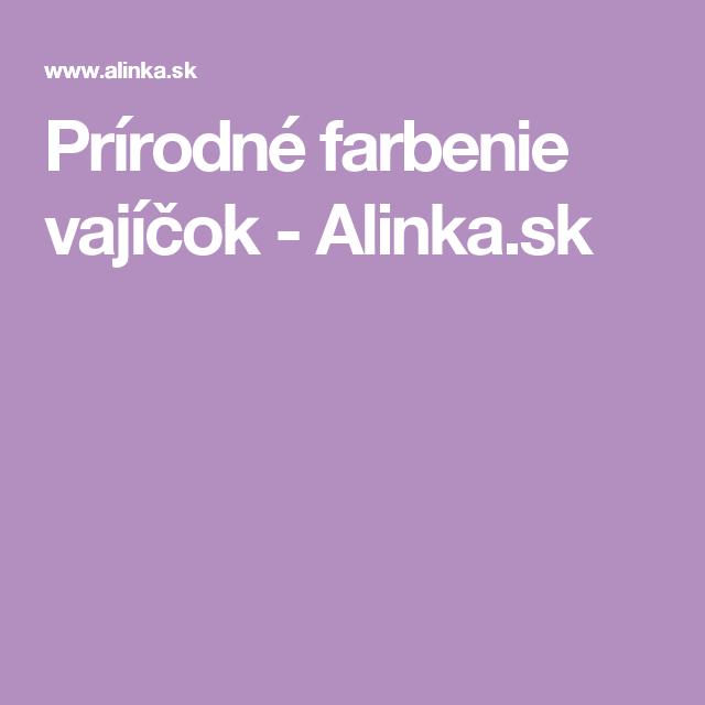 Prírodné farbenie vajíčok - Alinka.sk