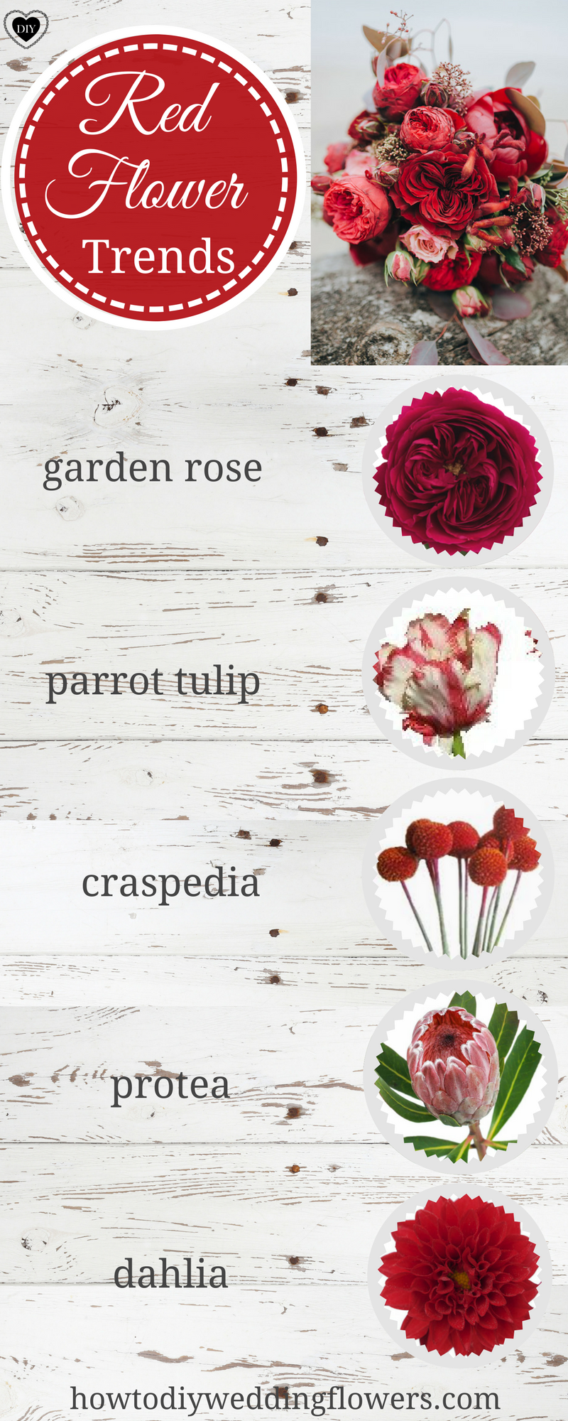 Red Wedding Trends How To Make A Red Bouquet Red Flower Names Red
