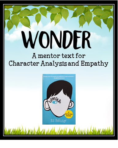 Wonder has become a MUST READ for the upper elementary grades, and this mentor text lesson will teach your students about CHARACTER CHANGE. Freebie included.