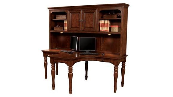 Marvelous Charlestown Dual T Desk With Hutch Cherry By Aspen Home   1 800 460