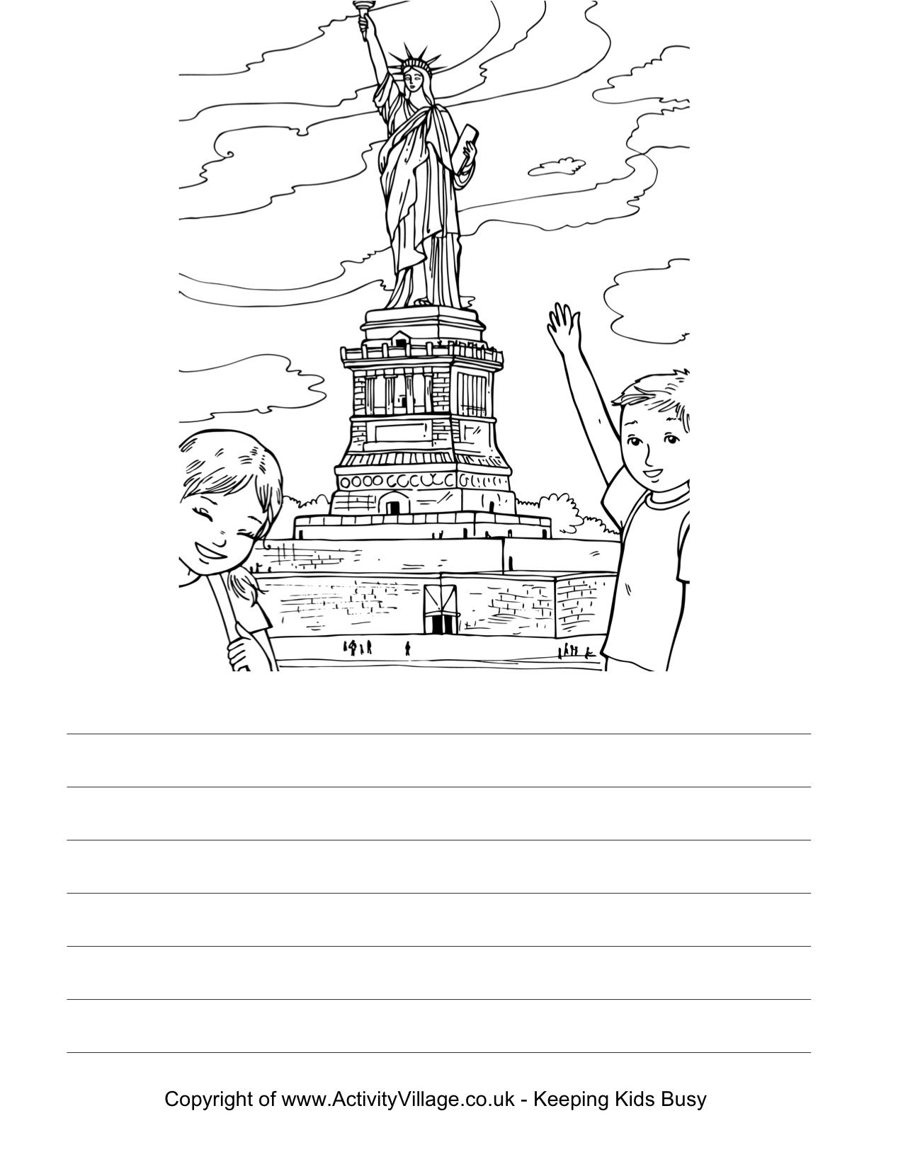 Print Color And Write A Story About Or Description Of New