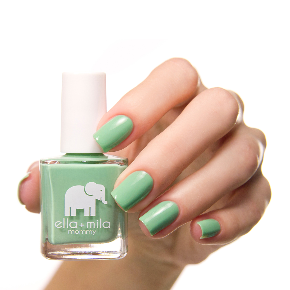Paint your nails with this bright green nail polish to give your ...