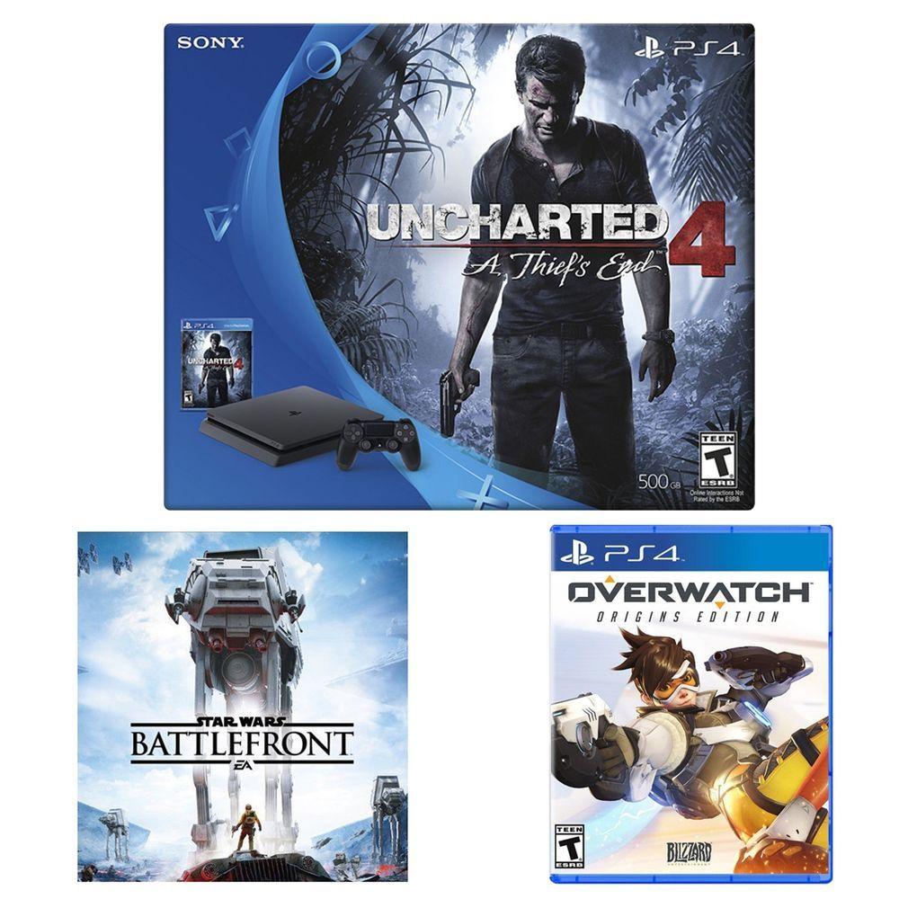 [Newegg via eBay] PlayStation 4 Slim Uncharted 4 Overwatch