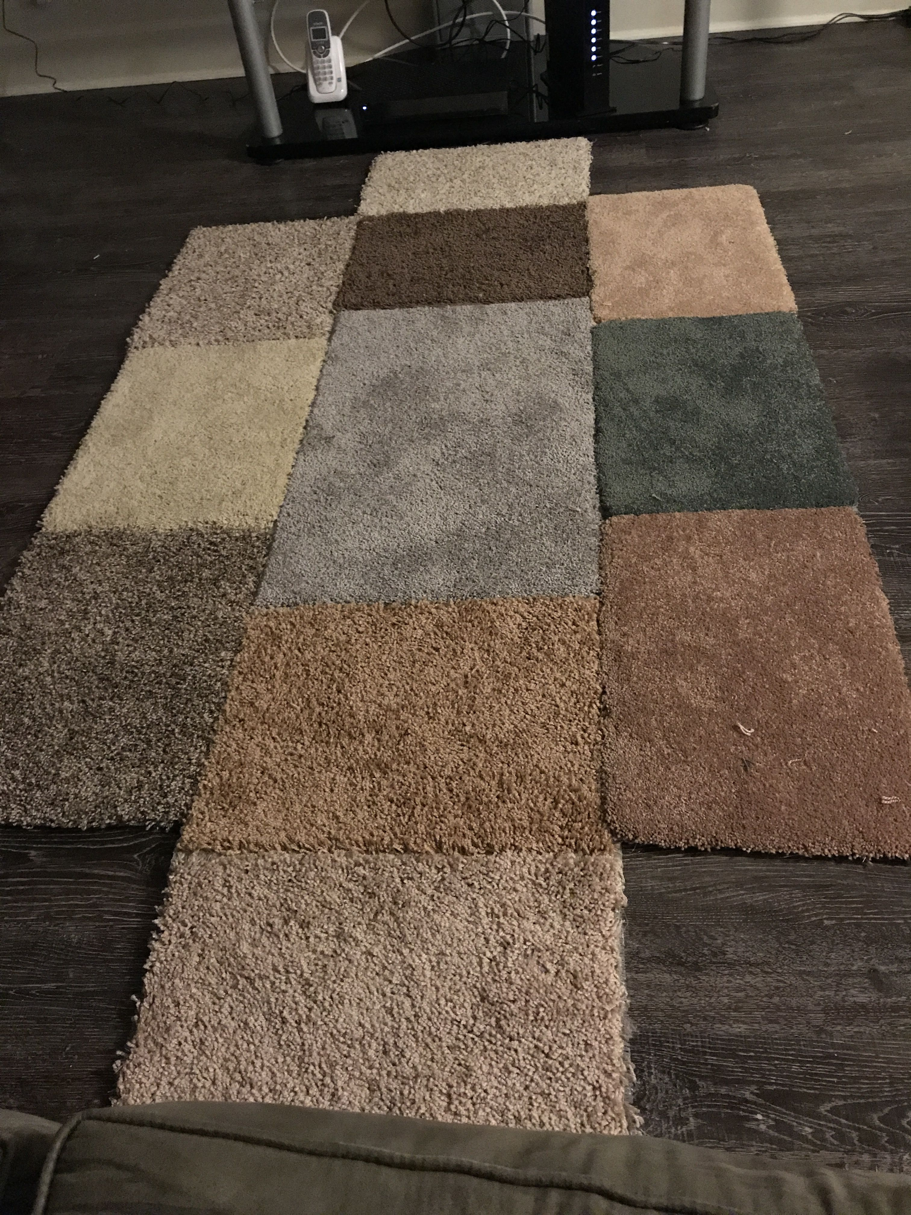 My D I Y Area Rug Using Gorilla Tape And Carpet Samples