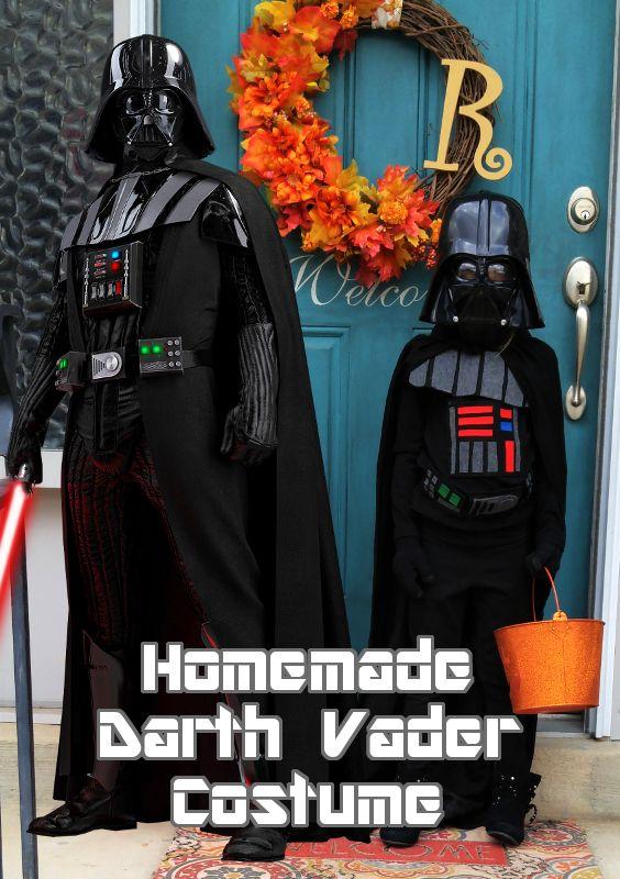 Homemade Darth Vader costume for kids | Darth vader ...