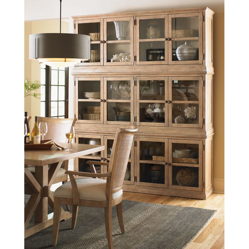 Lexington Furniture Sausalito Glass Door Stackable Cabinet in ...