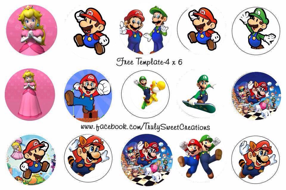 Super Mario Bottle cap images 4x6 | zigary tiarcze i .. | Pinterest ...