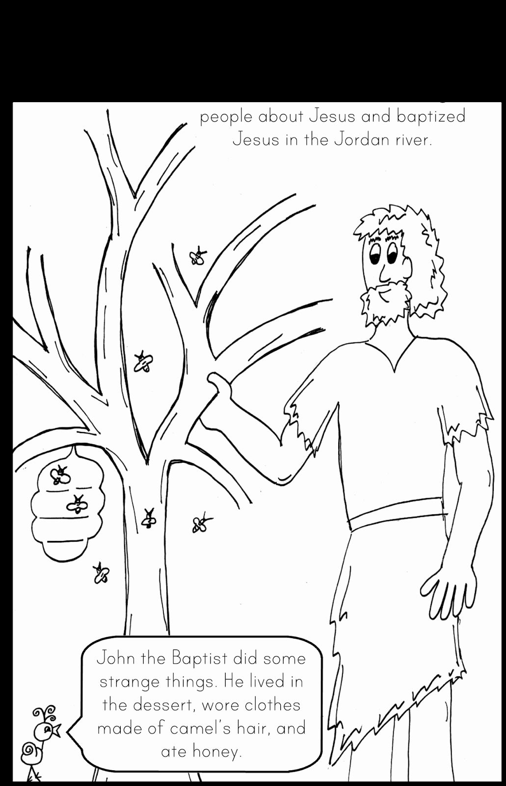 28 John the Baptist Coloring Page | John the baptist ...
