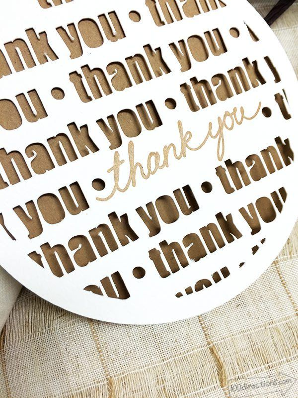 Thank You Card Made With Cricut Thank You Card Design Cricut Cards Handmade Thank You Cards