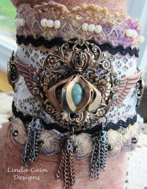 Gorgeous fabric wrist cuff ♥ @Dawn Cameron-Hollyer Walker @Beth J George @Dakota…