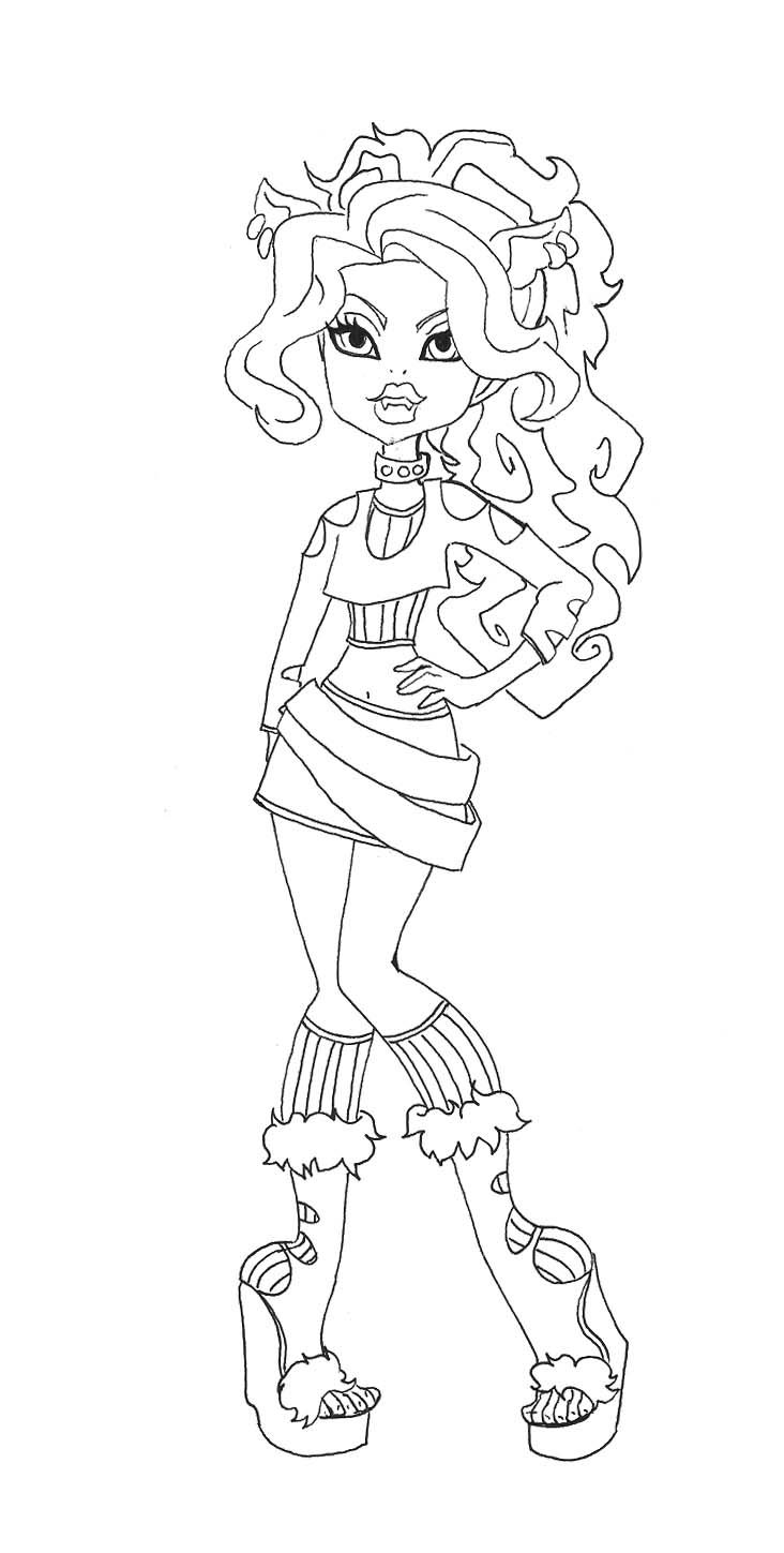 clawdia wolf coloring pages - photo#18