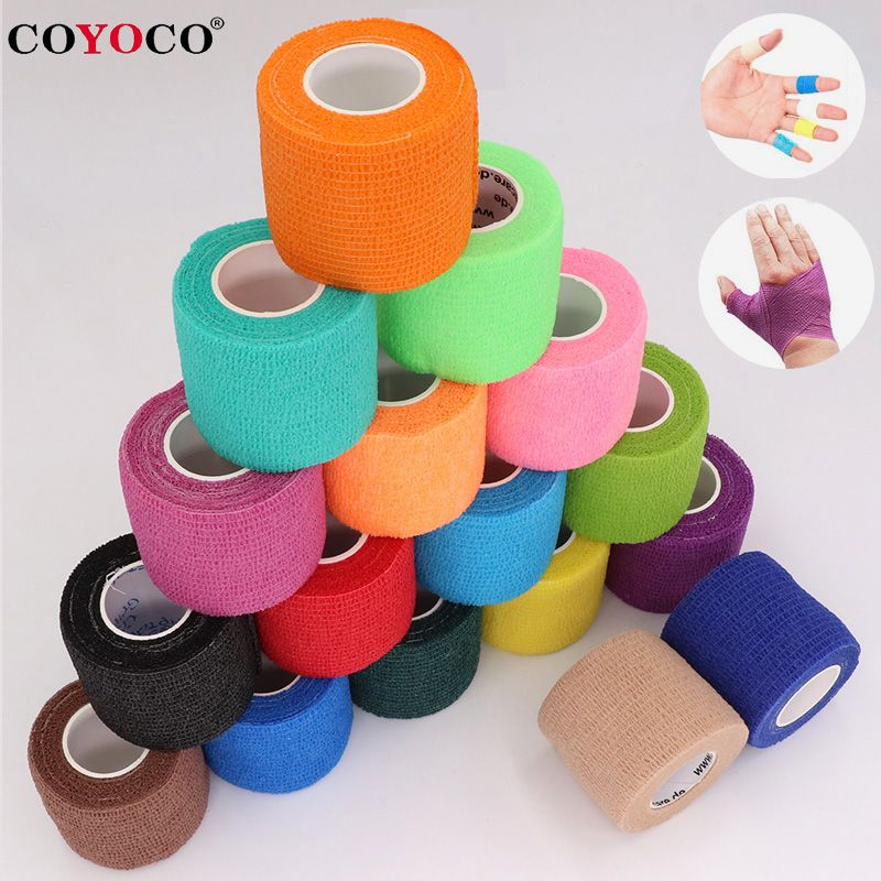 COYOCO Colorful Sport Self Adhesive Elastic Bandage Wrap