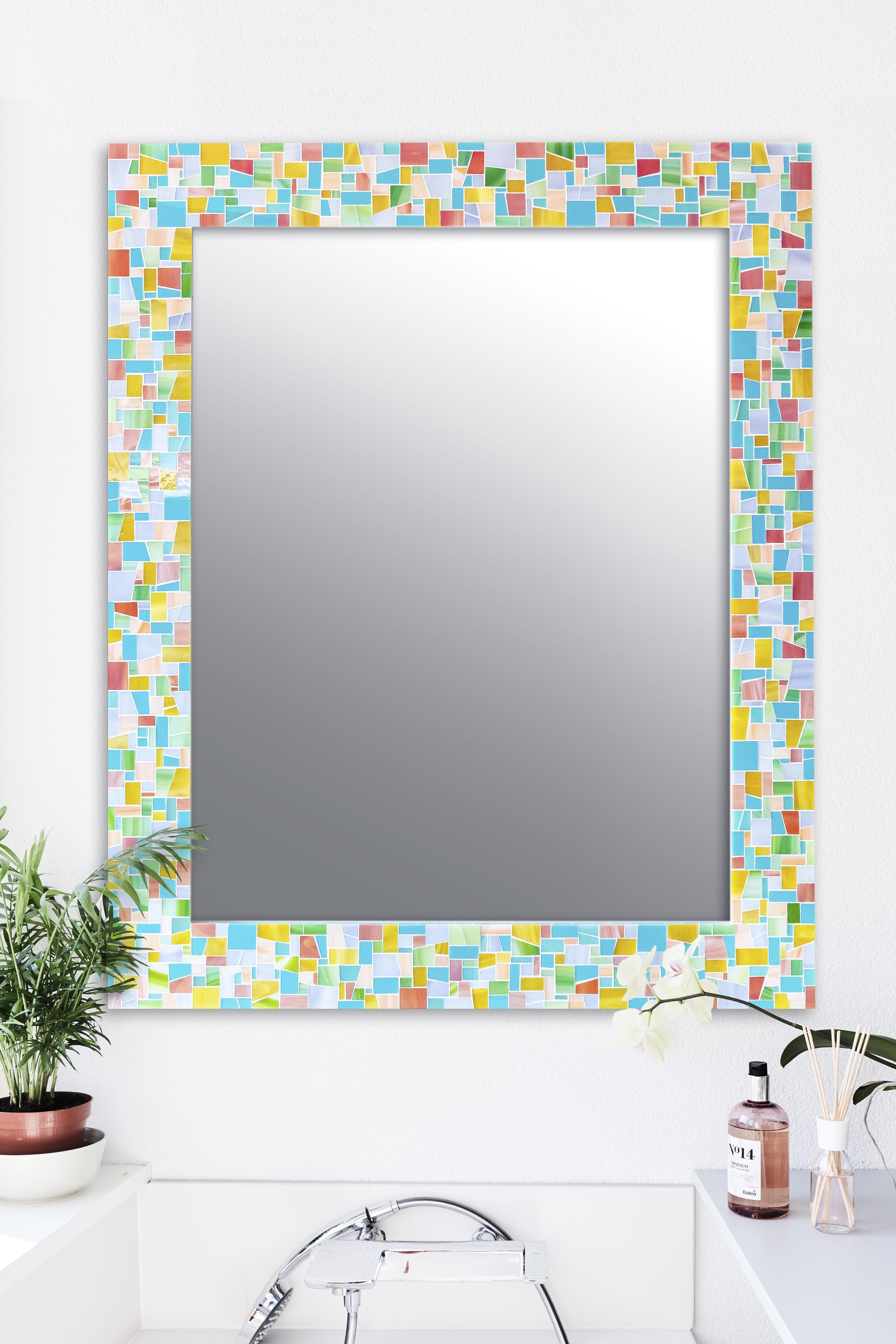 Pin Auf Bathroom Mirror Ideas Live In Mosaics