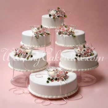 6 Tier Cascade Wedding Cake Stand Stands Set 64 95 Wedding