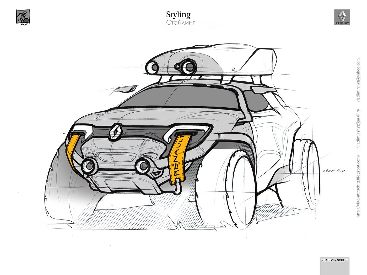 Renault for traveling around Russia (2012) on Behance | car sketches ...