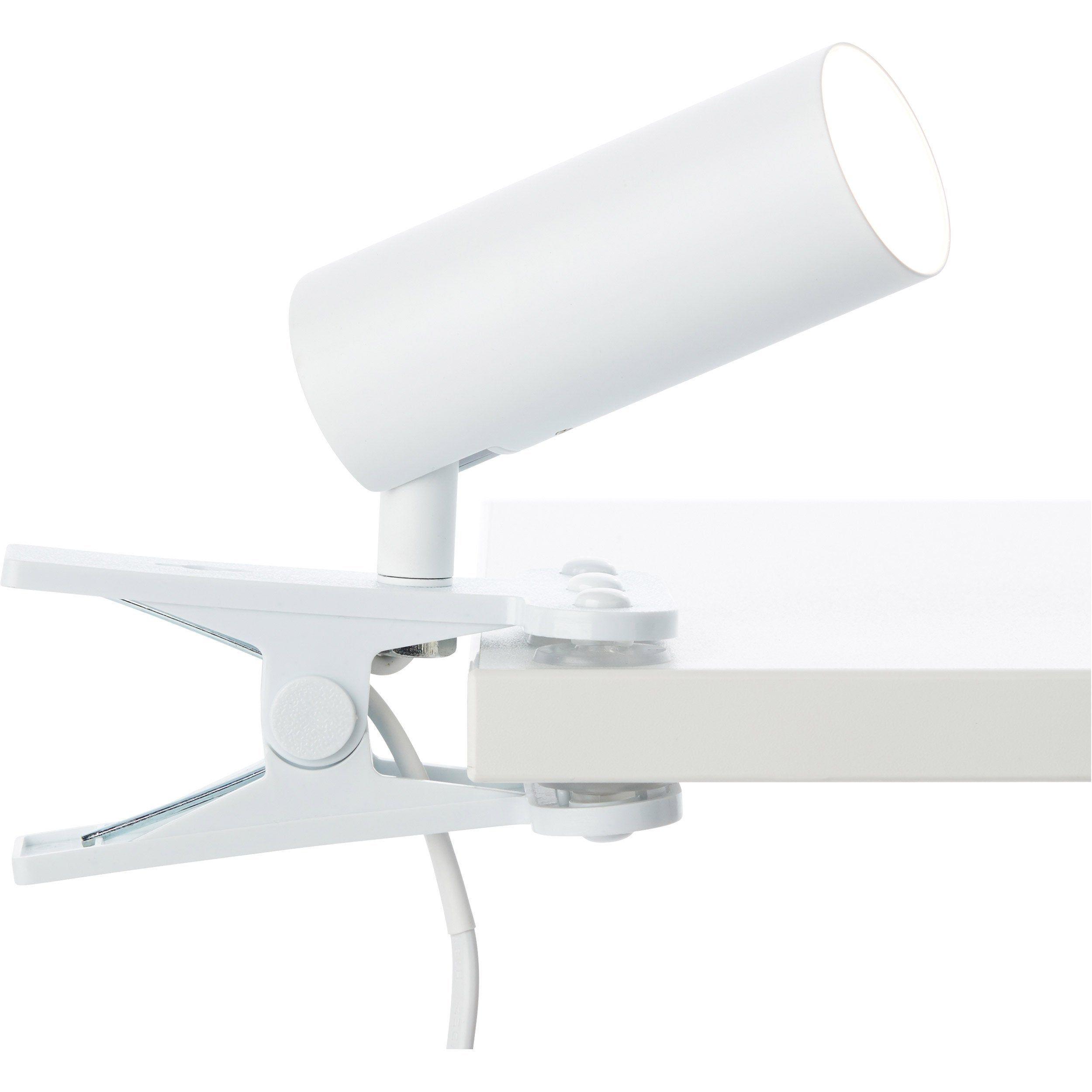 Lampe De Bureau à Pince Design Métal Blanc Brilliant