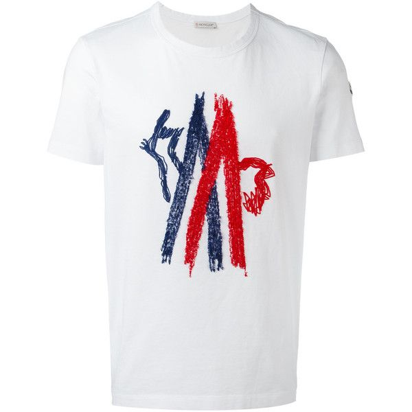 outlet with credit card logo print tshirt white moncler deals sfsc14