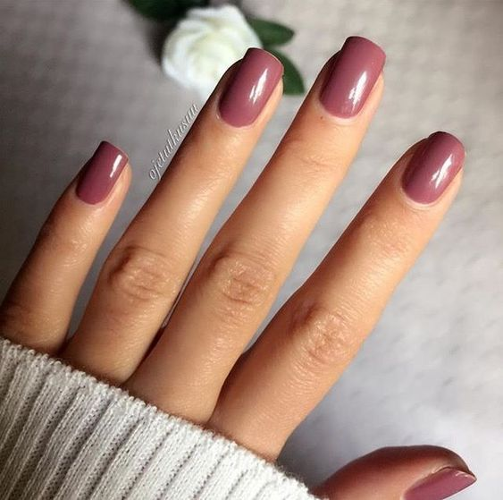 35 Elegant Mauve Color Nail Designs Fall Acrylic Nails Mauve Nails Nail Colors