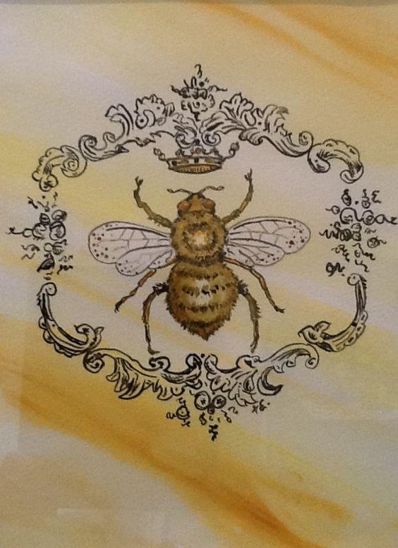 pin von tattoomaze auf victorian bee tattoo pinterest bienen. Black Bedroom Furniture Sets. Home Design Ideas