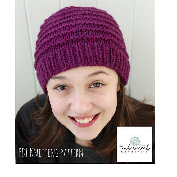 Easy Beanie Pattern Easy Hat Pattern Beanie Pattern Knit Girls
