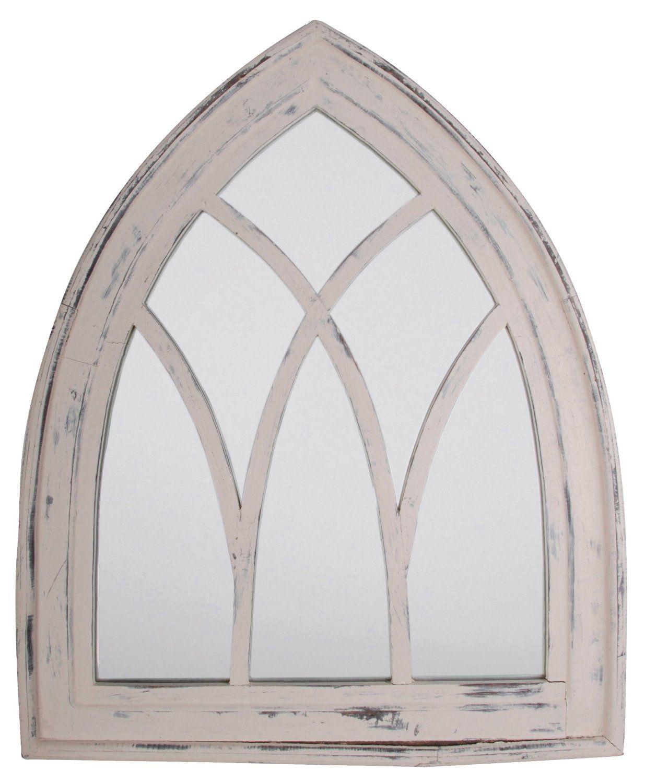 Esschert Design USA WD10 Mirror Gothic, White