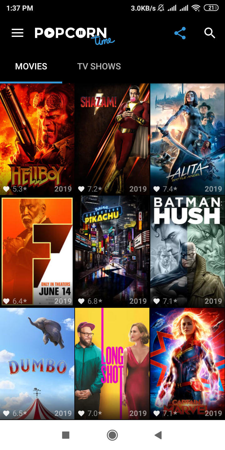Download now popcorn time apk on your device. Popcorn