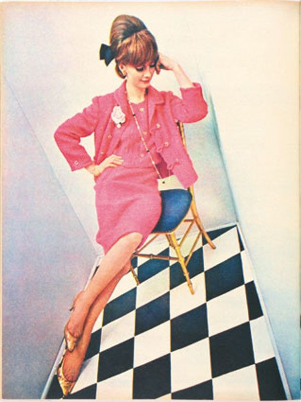 Otto Stupakoff vintage fashion style color photo print ad model magazine 60s…